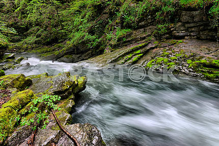 flowing water in the gorge