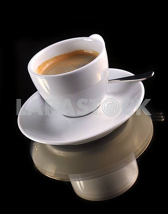 cup of coffee on the black