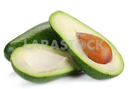 Ripe sliced avocado
