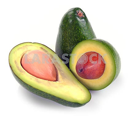 Ripe sliced avocado
