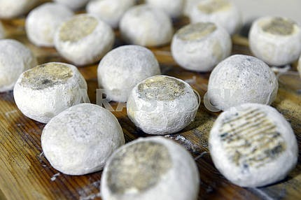 well ripened goat cheeses