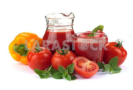 Vegetable juice with ingredients