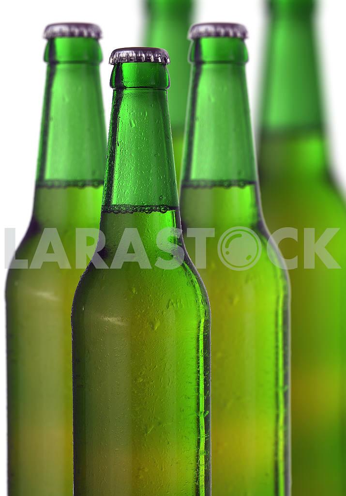 Row of beer bottles — Image 18458
