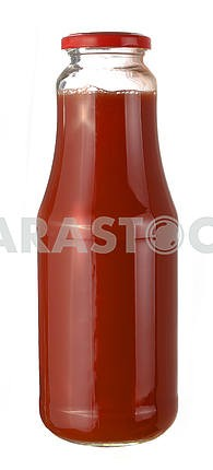 Bottle of tomato juice