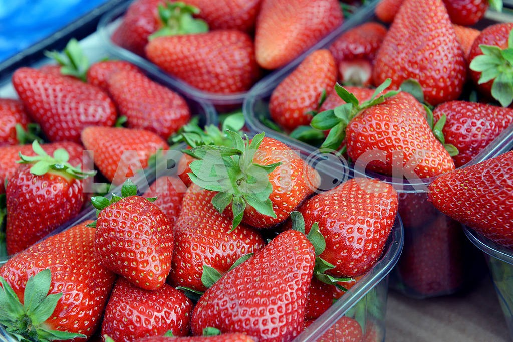 Strawberries in a box — Image 18470