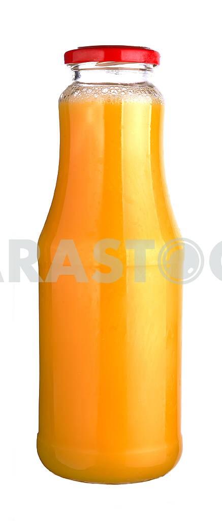 Orange juice in a glass bottle — Image 18516