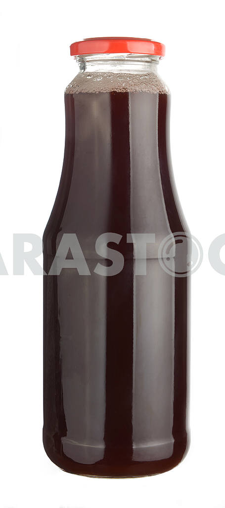 Cherry juice in a glass bottle — Image 18517