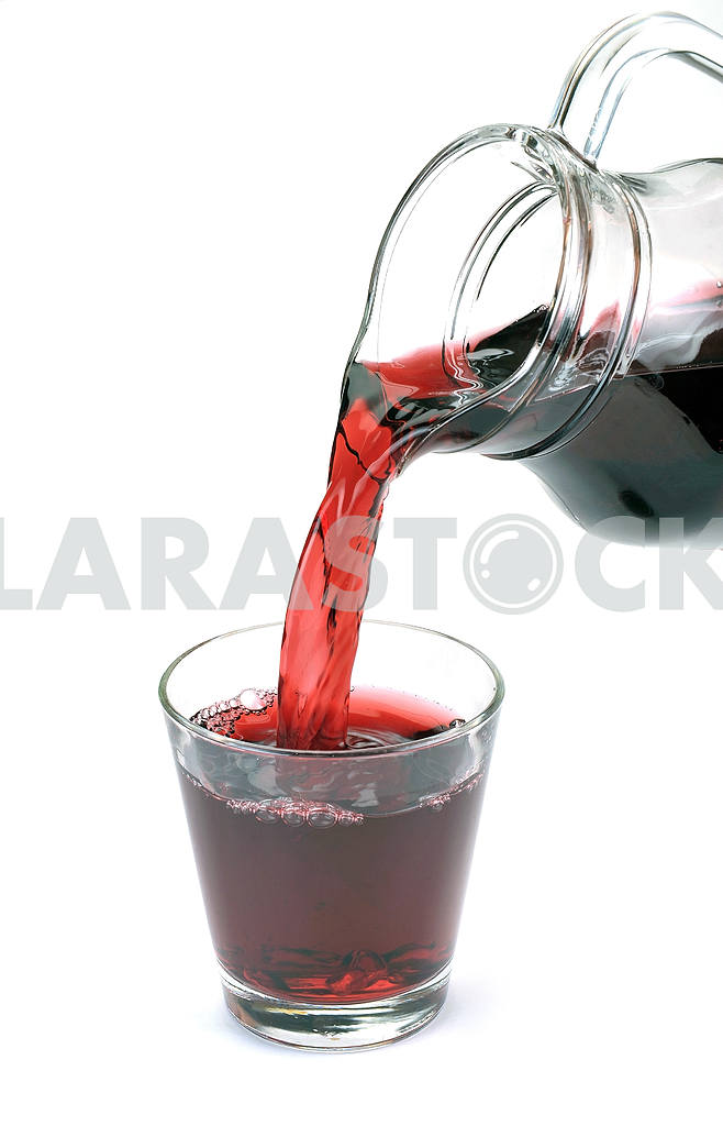 Cherry juice is poured — Image 18626