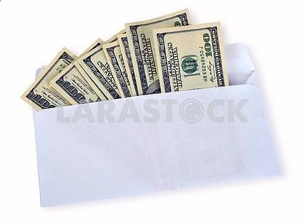 American dollars in an envelope