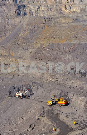 open-cast mine of iron ore