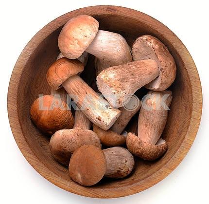 cep mushrooms in a basket