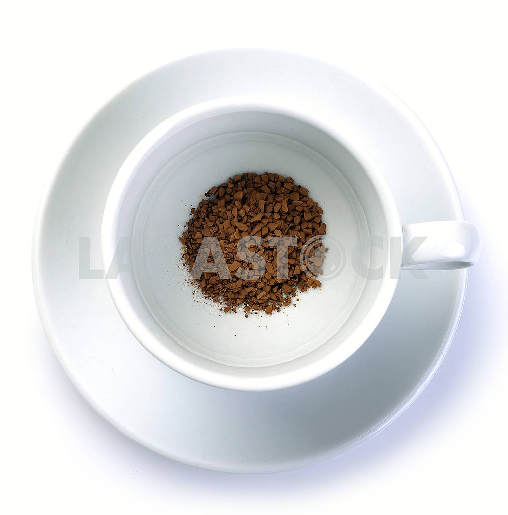 Granules of instant coffee in cup — Image 18699