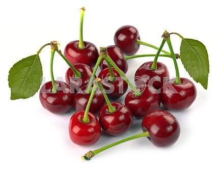 Спелые красные вишни