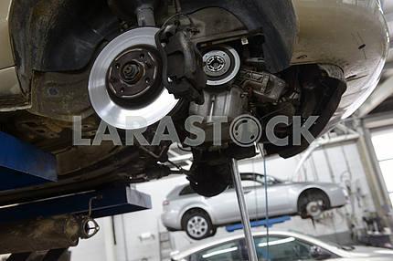 Front axle, wheel hub