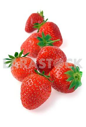 Handful of ripe strawberries