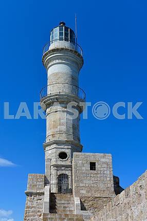 Lighthouse against the blue sky