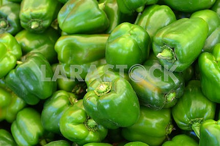 Ripe green peppers