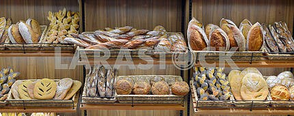 Bread in a shop window