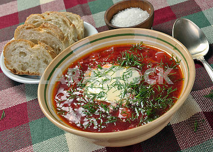 Ukrainian national red soup
