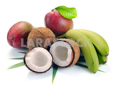 coconut banana and mango