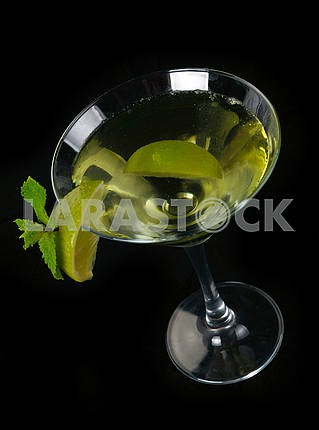 Martini cocktail with lime