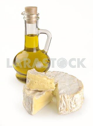 Olive oil and Camembert cheese