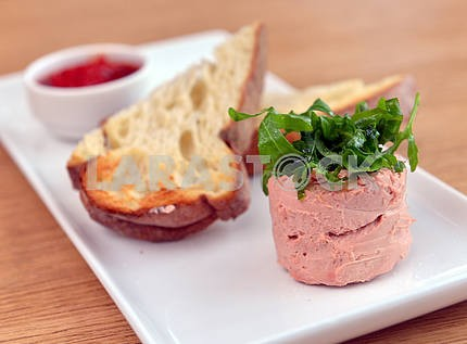 Goose pate with bread