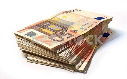 Stack of 50 euro notes