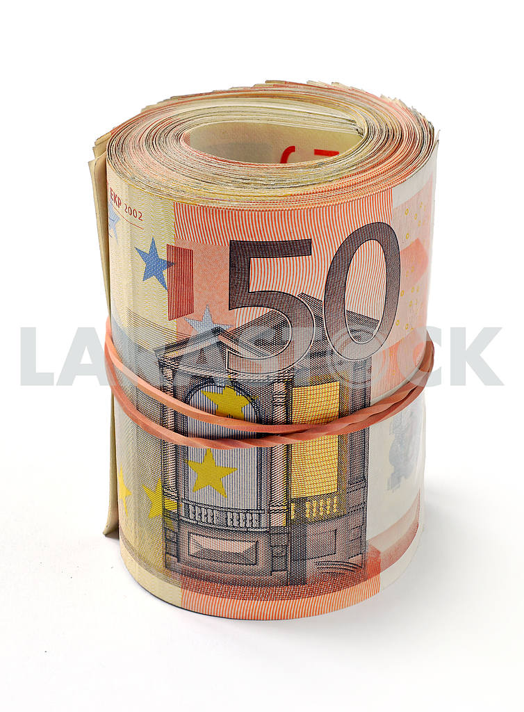 50 euro banknote folded in a roll — Image 19169
