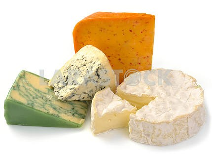 Set of cheese with mold and camemberе