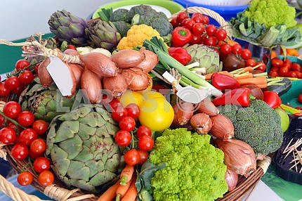 Many different ecological vegetables