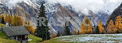 Alpine panorama from the small village