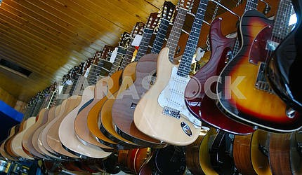 Guitars on a show-window