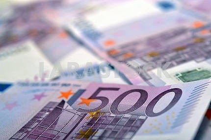 500 Euro money banknotes