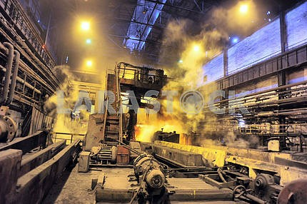 Shop rolled metal steel plant