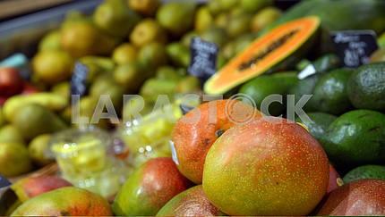 mangoes on display