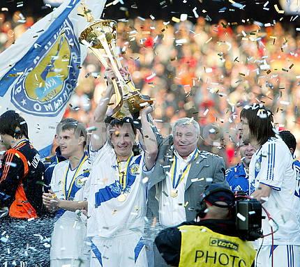 "Anatoliy Demyanenko the head coach of the club ""Dynamo"" (Kiev"