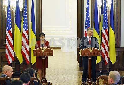 US Secretary of Commerce Penny Pritzker in Kiev.