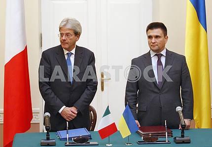 Министр иностранных дел Италии Паоло Джентилони в Киеве.