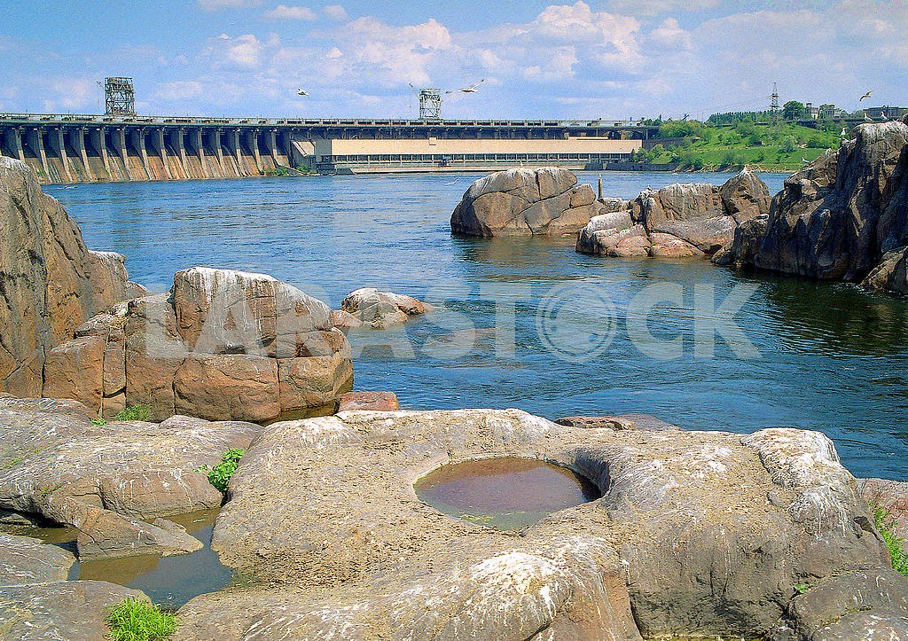 Rock rapids on the Dnieper Zaporozhye — Image 19907