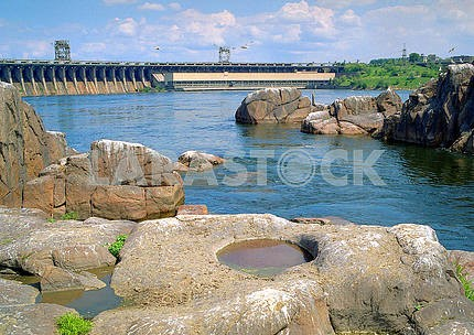 Rock rapids on the Dnieper Zaporozhye