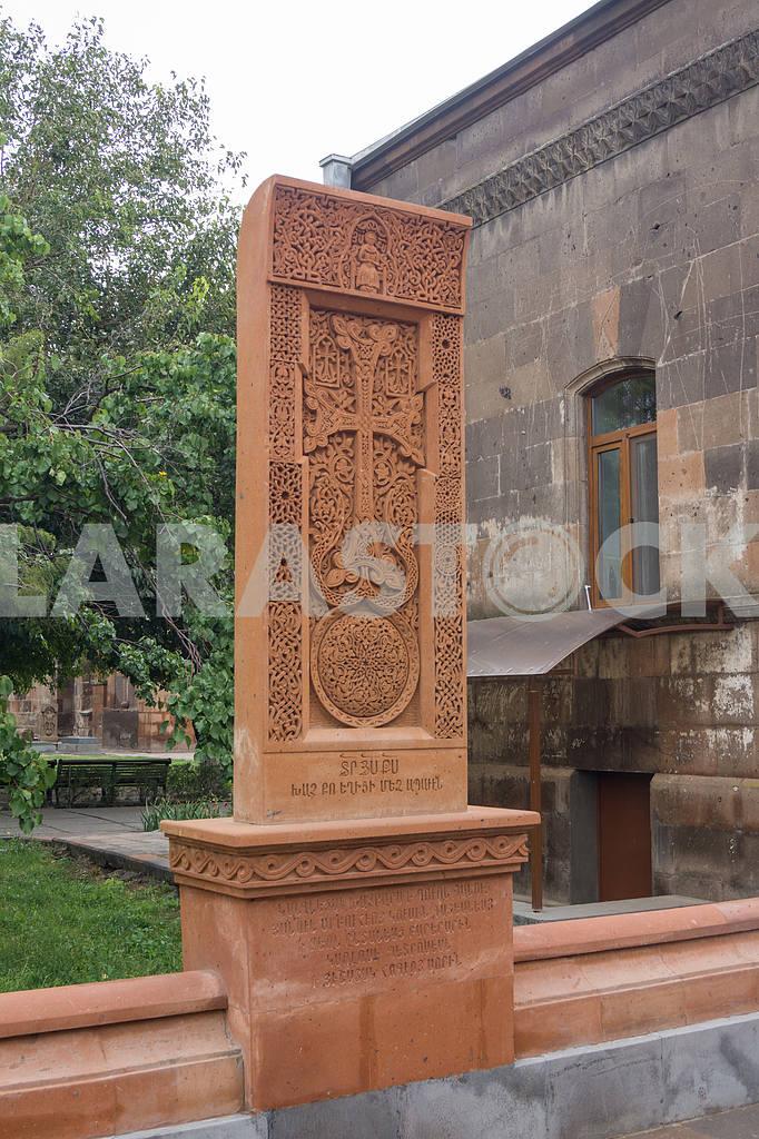 Khachkar. Saint Gayane Church. — Image 19962