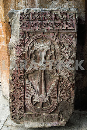 Khachkar. Saint Gayane Church.