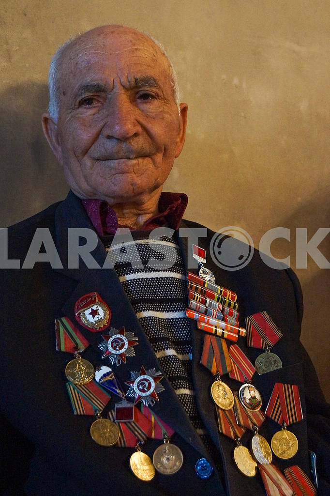 War veteran with medals and orders — Image 19990