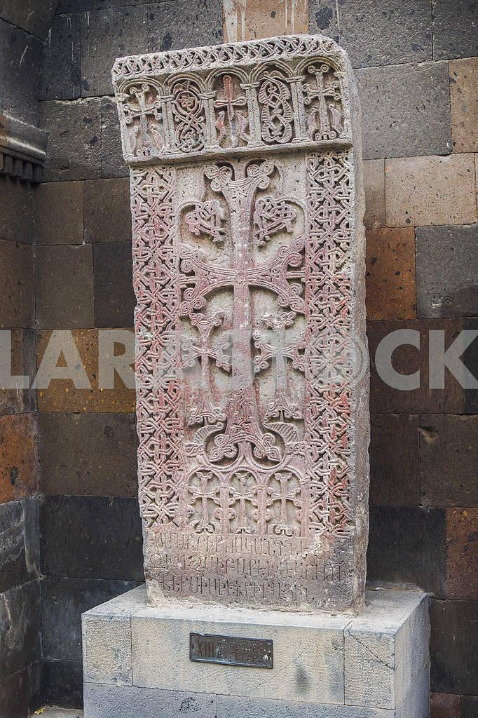 Khachkar. Echmiadzin Cathedral. — Image 19993