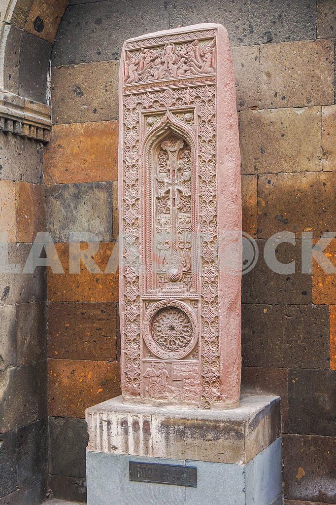 Khachkar. Echmiadzin Cathedral. — Image 19994