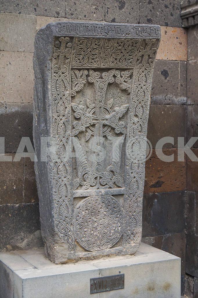 Khachkar. Echmiadzin Cathedral. — Image 19995