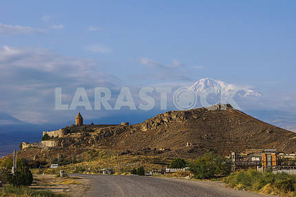 Panoramic views of the Khor Virap and Mount Ararat.