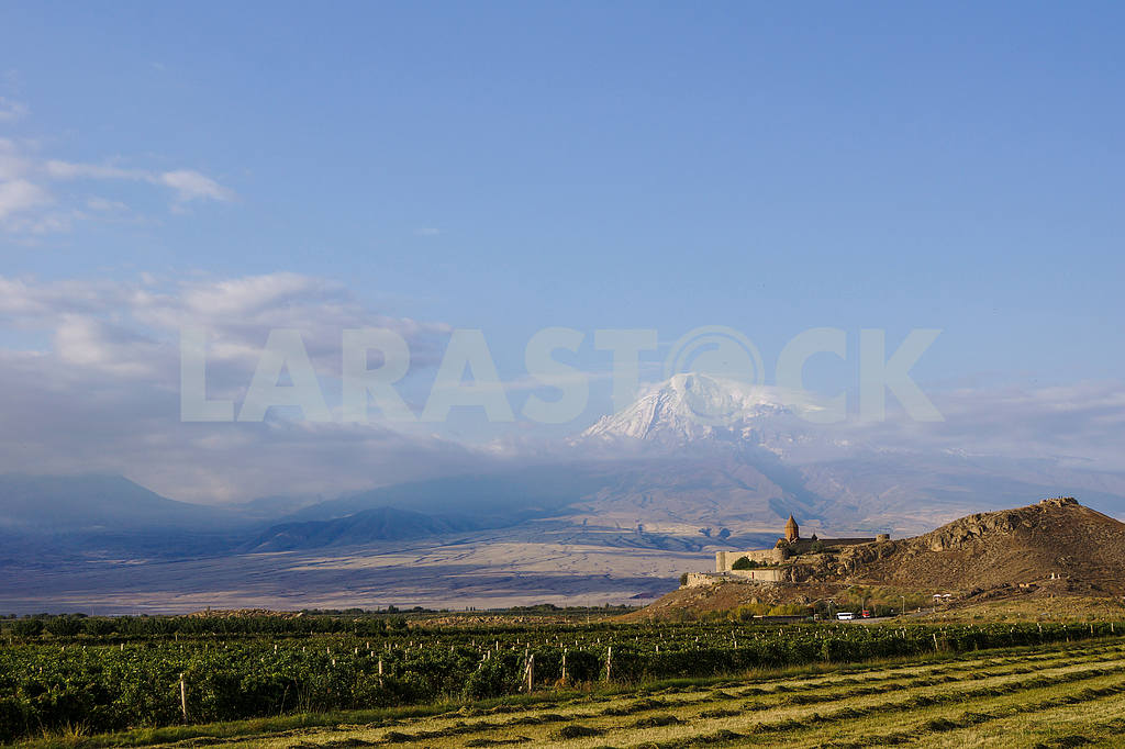 Panoramic views of the Khor Virap and Mount Ararat. — Image 20048