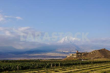 Panoramic views of the Khor Virap and Mount Ararat.